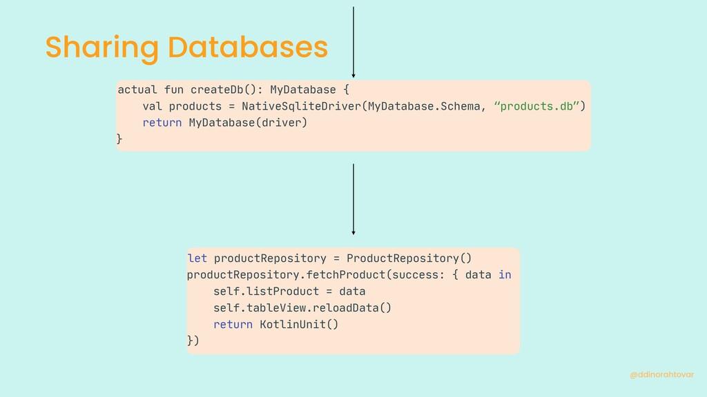 Sharing Databases @ddinorahtovar let productRep...