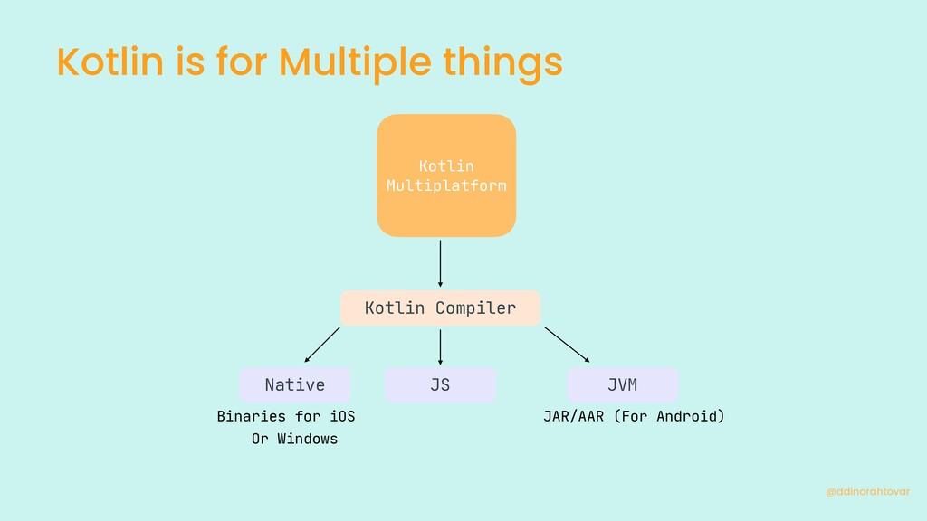 Kotlin is for Multiple things @ddinorahtovar JA...
