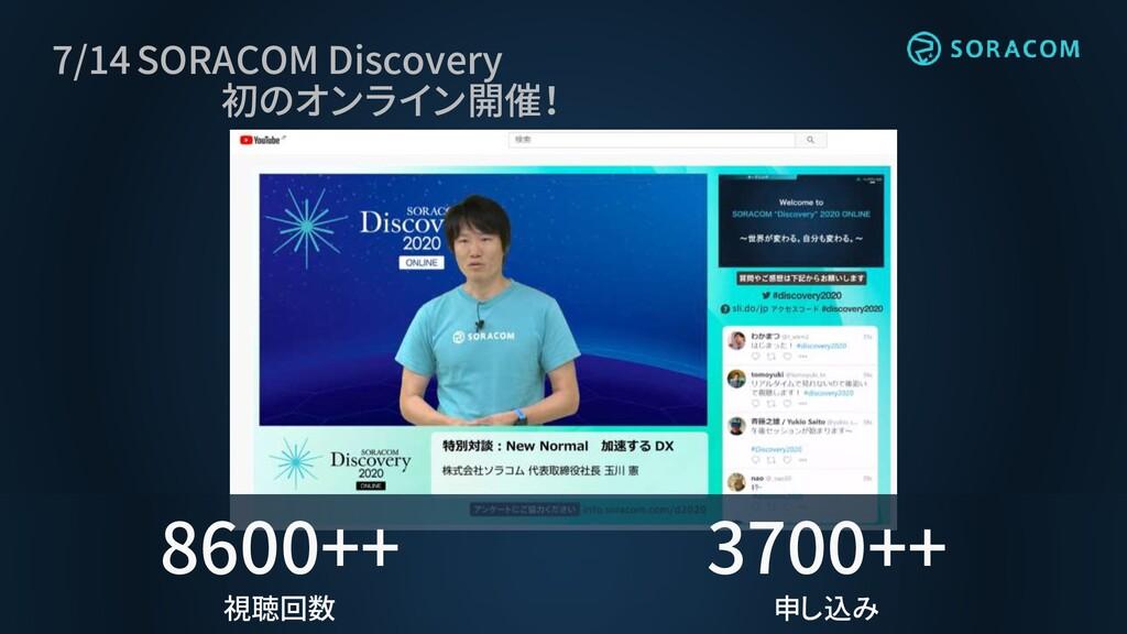 7/14 SORACOM Discovery 初のオンライン開催! 8600++ 視聴回数 3...