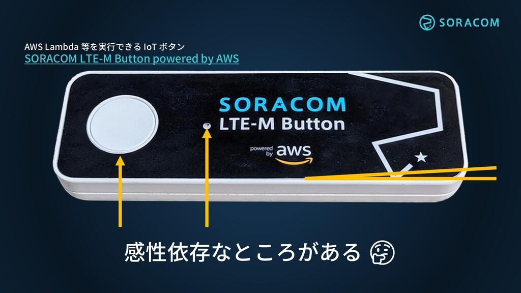 感性依存なところがある 🤔 AWS Lambda 等を実行できる IoT ボタン SORACO...