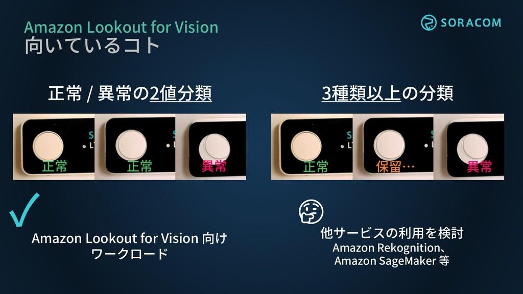 Amazon Lookout for Vision 向いているコト 正常 / 異常の2値分類 ...