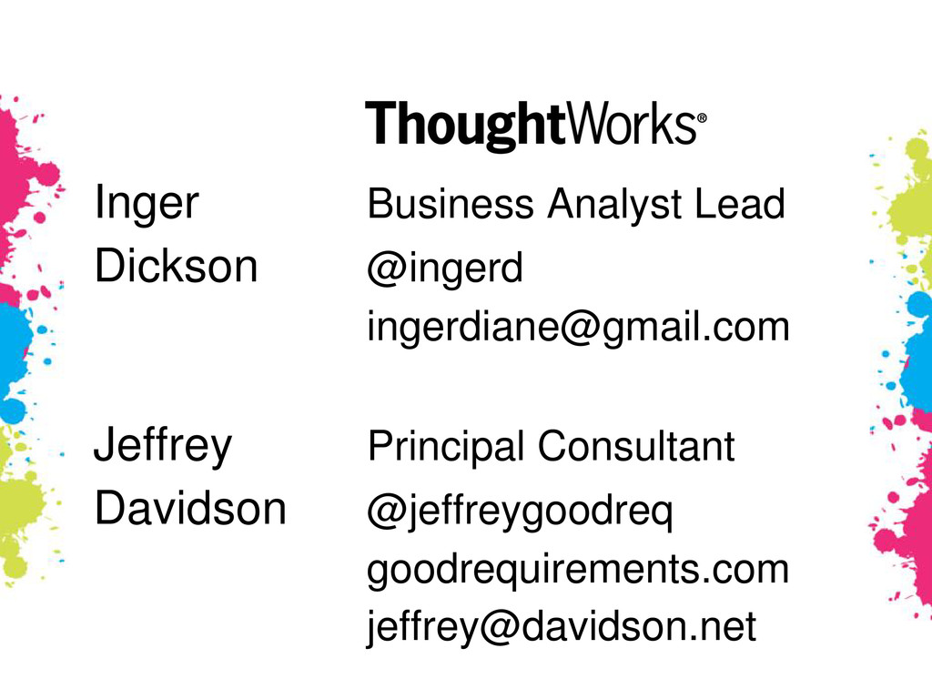 Inger Business Analyst Lead Dickson @ingerd ing...