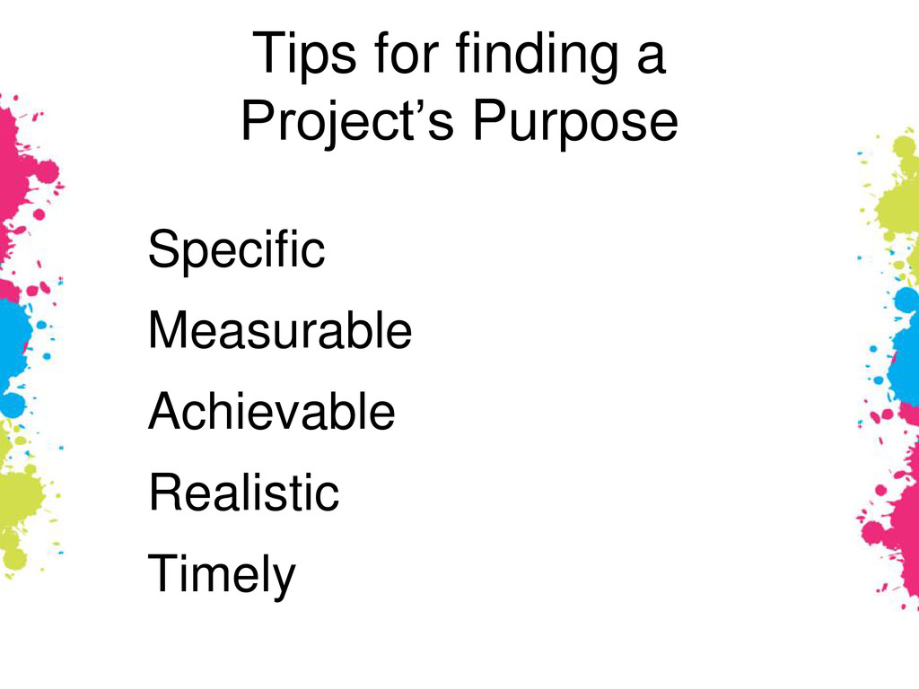 Tips for finding a Project's Purpose Specific M...