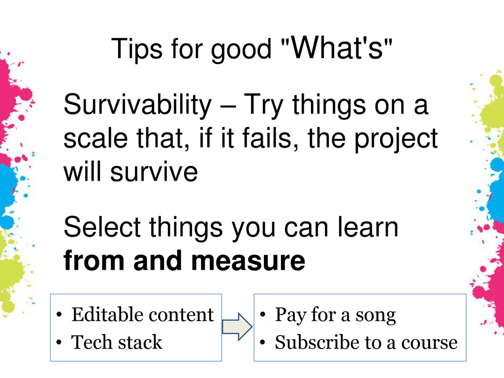 """Tips for good """"What's"""" Survivability – Try thin..."""