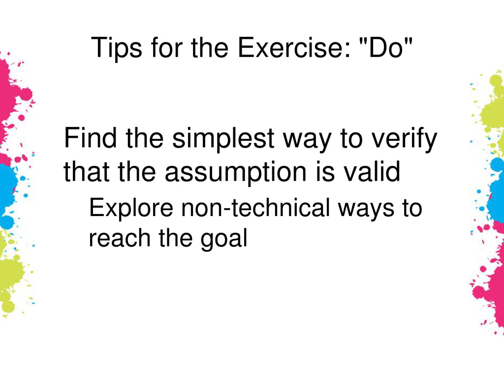 """Tips for the Exercise: """"Do"""" Find the simplest w..."""