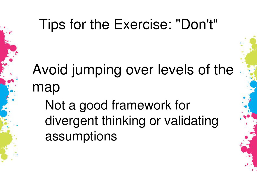 """Tips for the Exercise: """"Don't"""" Avoid jumping ov..."""