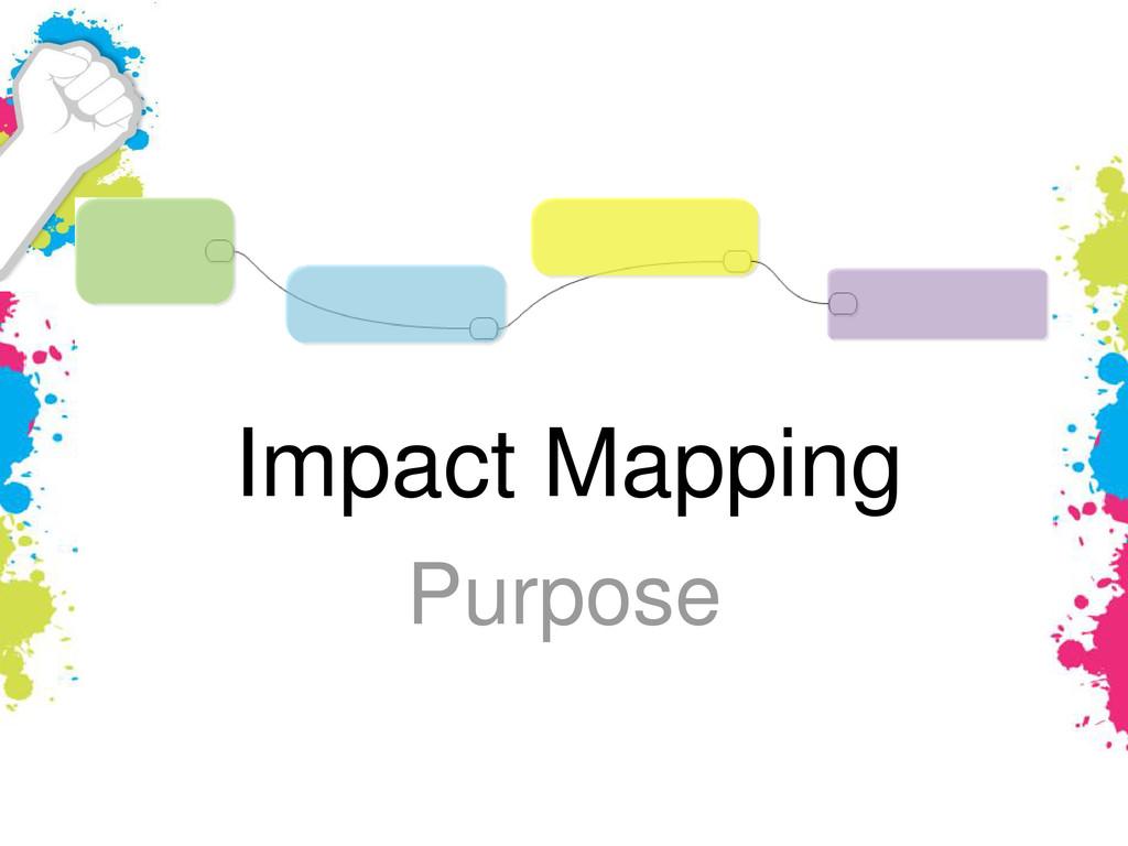 Impact Mapping Purpose
