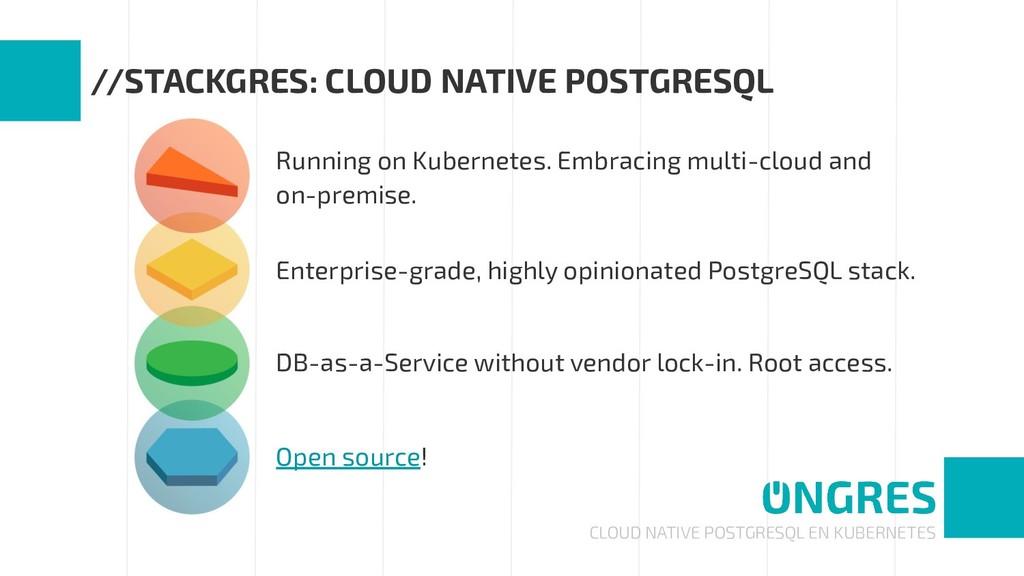 CLOUD NATIVE POSTGRESQL EN KUBERNETES //STACKGR...