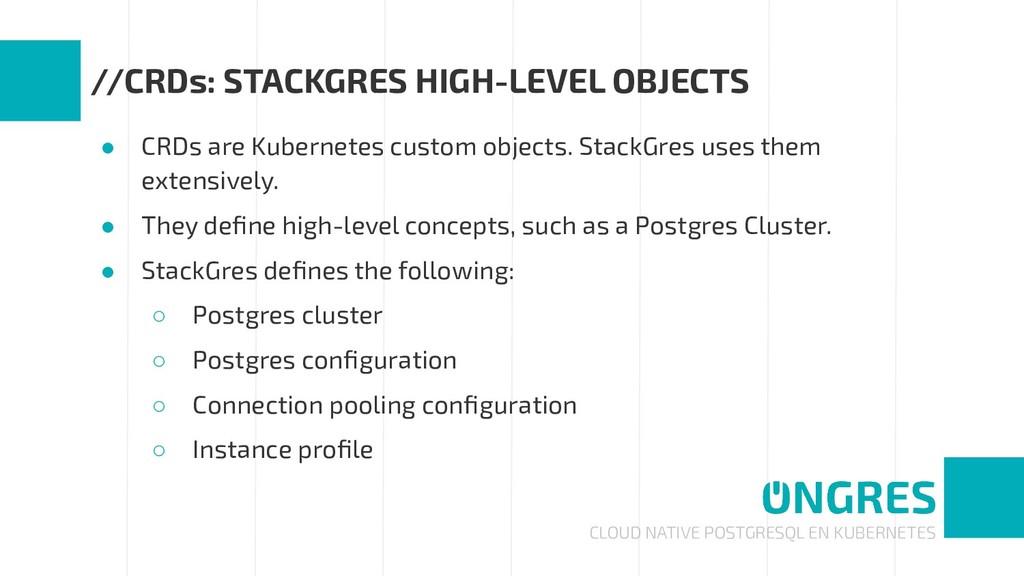 CLOUD NATIVE POSTGRESQL EN KUBERNETES //CRDs: S...