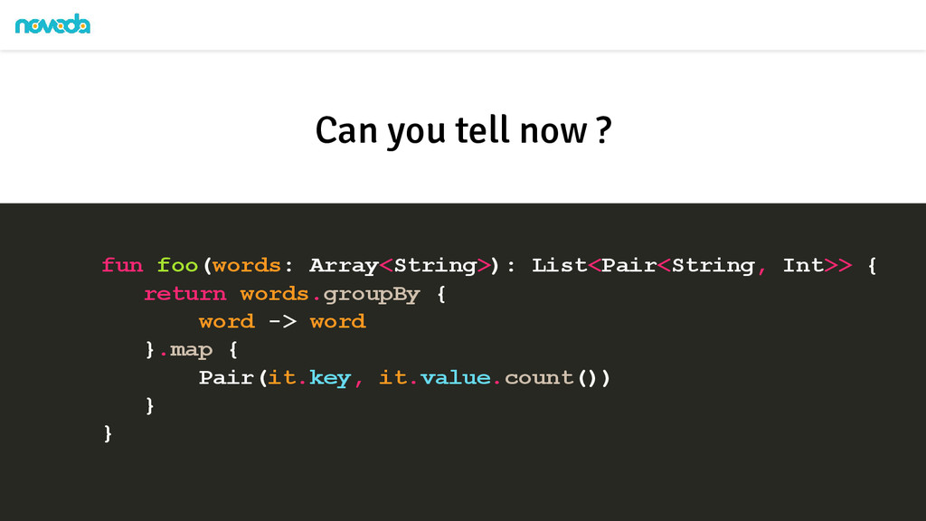 fun foo(words: Array<String>): List<Pair<String...