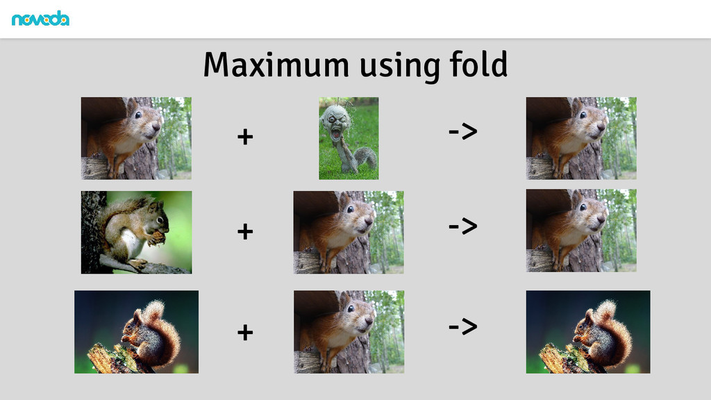 Maximum using fold + + + -> -> ->