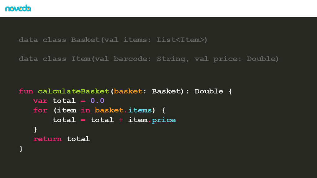 data class Basket(val items: List<Item>) data c...