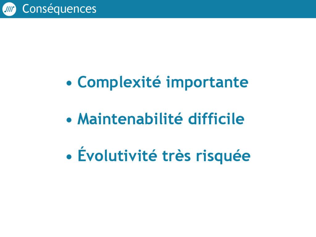 Conséquences • Complexité importante • Mainten...