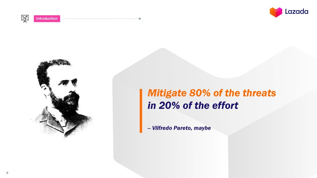6 Introduction Mitigate 80% of the threats in 2...