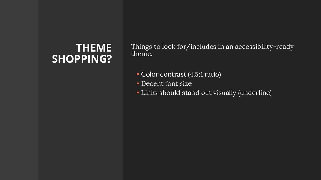 THEME SHOPPING? Things to look for/includes in ...