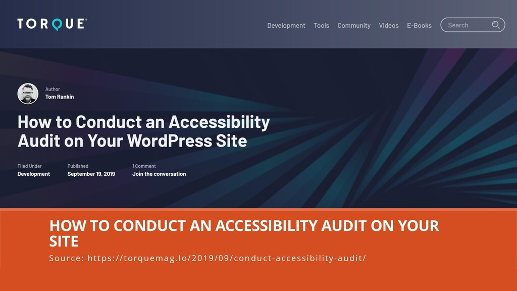 HOW TO CONDUCT AN ACCESSIBILITY AUDIT ON YOUR S...