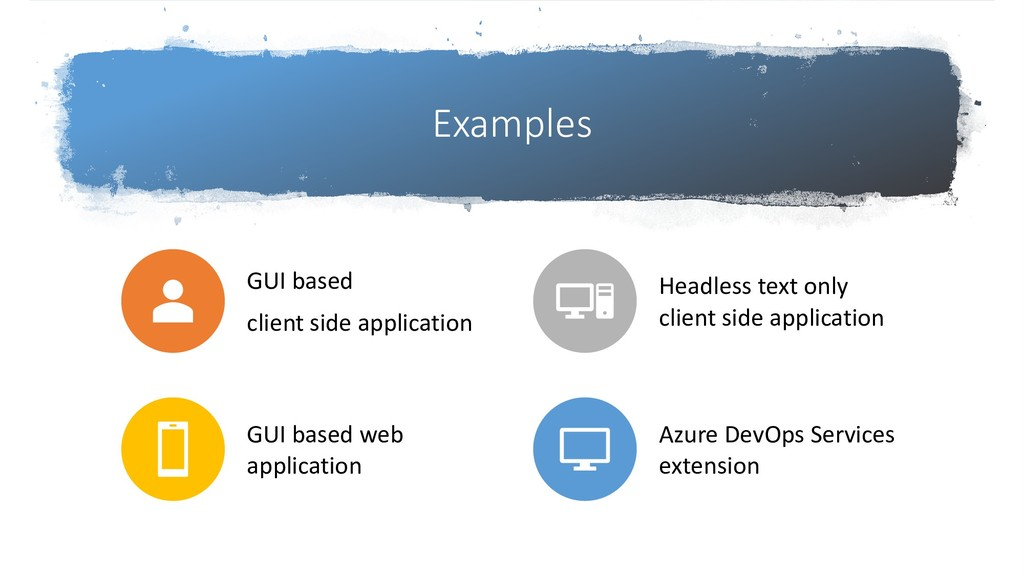 Examples GUI based client side application Head...