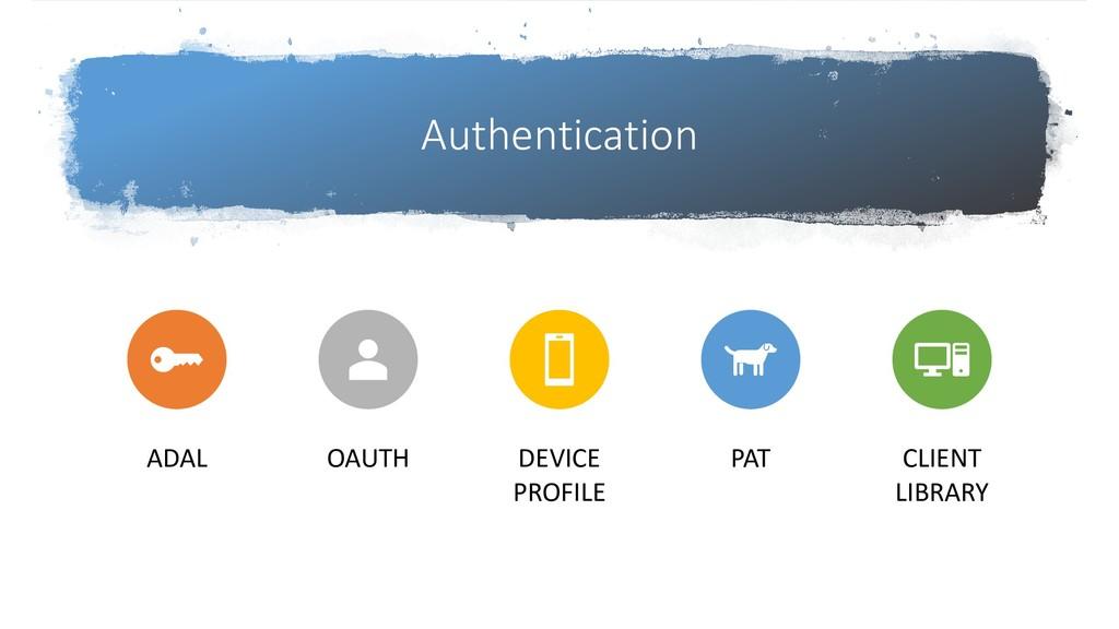 Authentication ADAL OAUTH DEVICE PROFILE PAT CL...