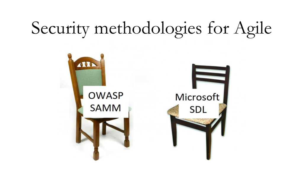 Security methodologies for Agile