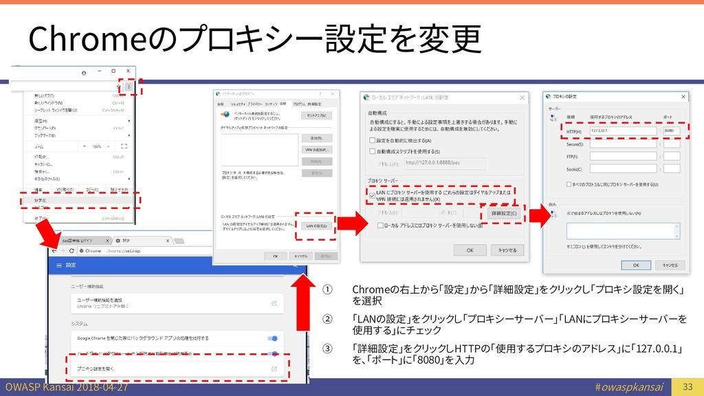OWASP Kansai 2018-04-27 #owaspkansai Chromeのプロキ...