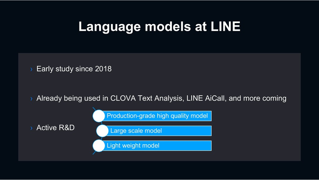 Language models at LINE › Already being used in...