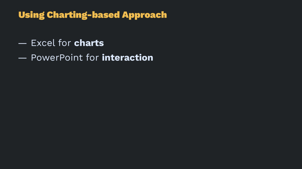 Using Charting-based Approach — Excel for chart...