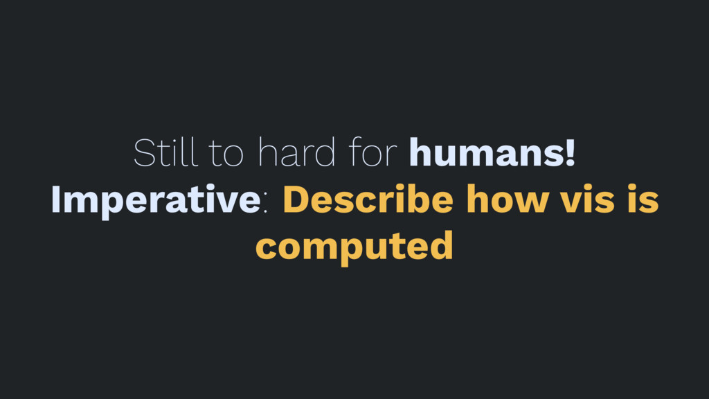Still to hard for humans! Imperative: Describe ...