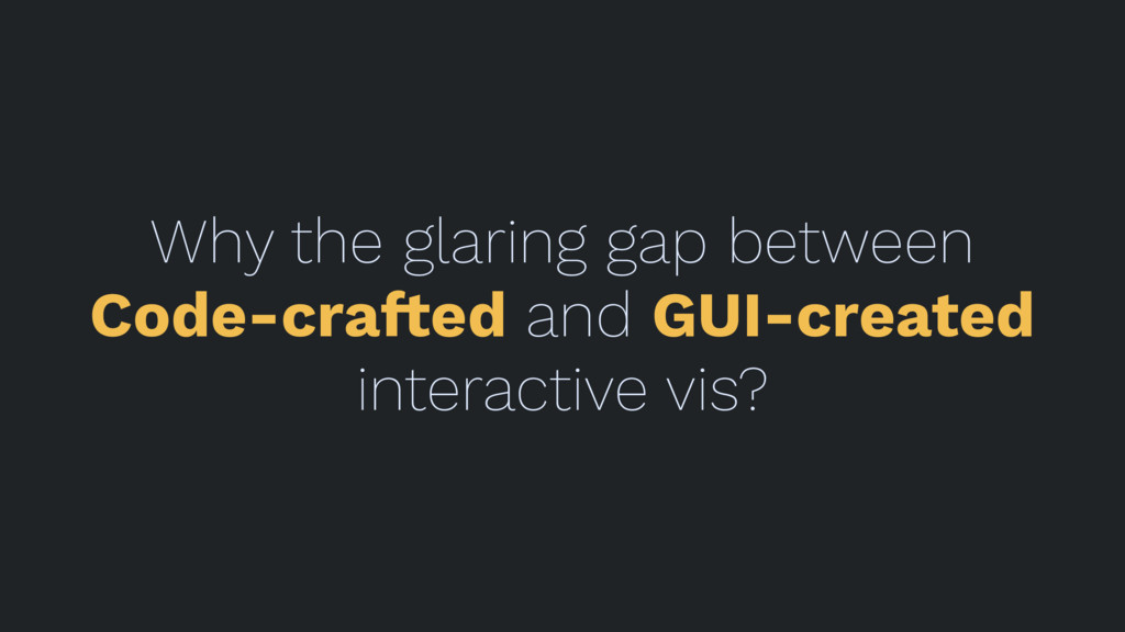 Why the glaring gap between Code-cra!ed and GUI...