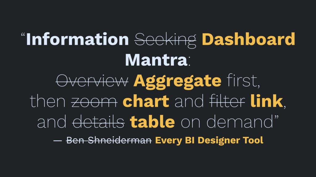 """Information Seeking Dashboard Mantra: Overview..."