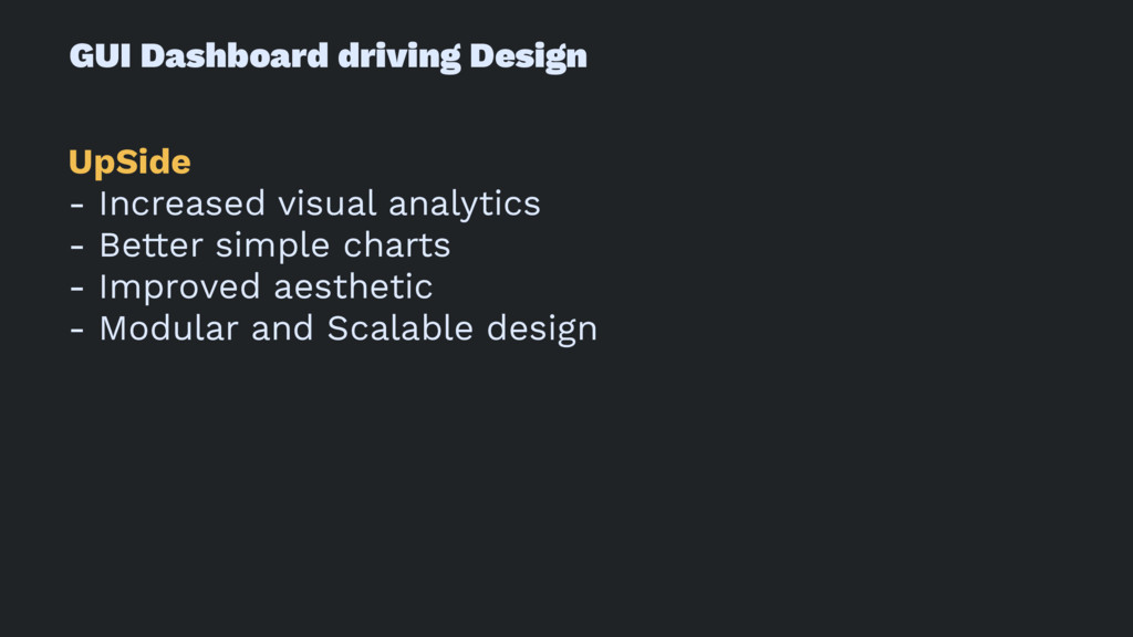 GUI Dashboard driving Design UpSide - Increased...
