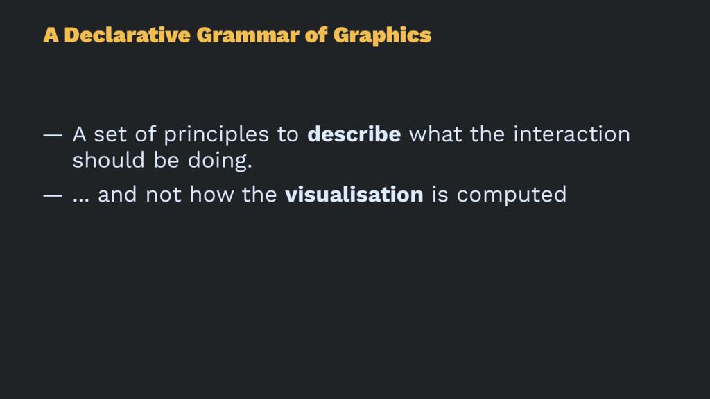A Declarative Grammar of Graphics — A set of pr...