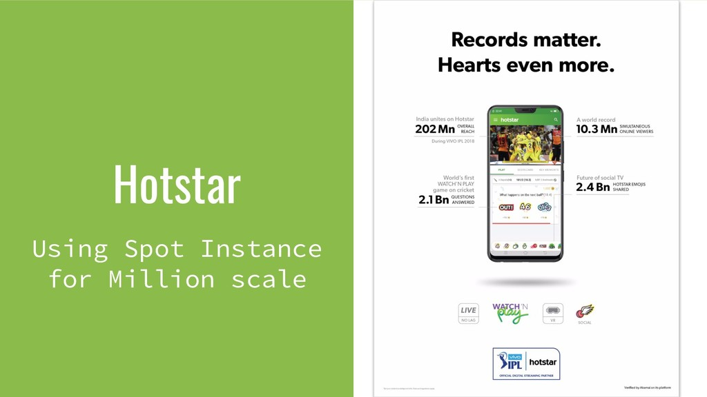 Hotstar Using Spot Instance for Million scale