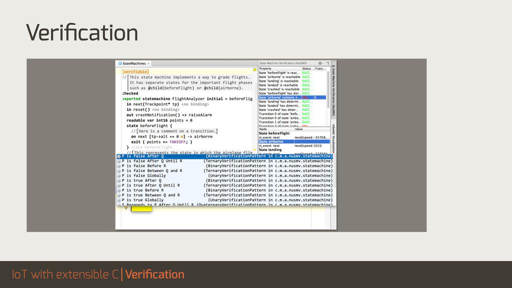 IoT with extensible C Verification Verification