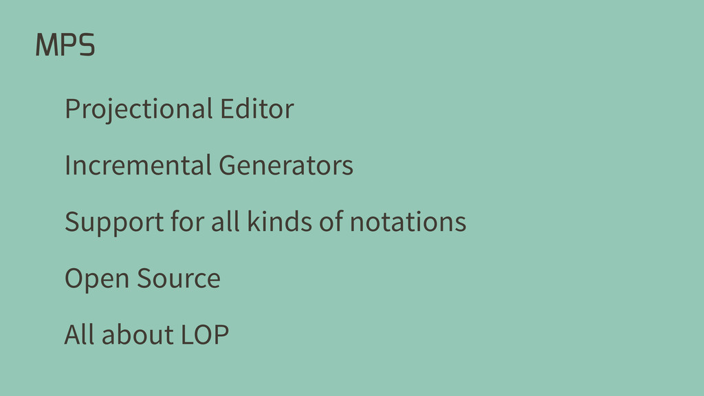 MPS Projectional Editor Open Source Support for...
