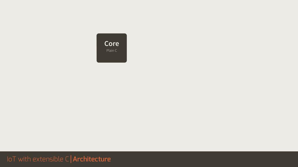 IoT with extensible C Architecture Core Plain C