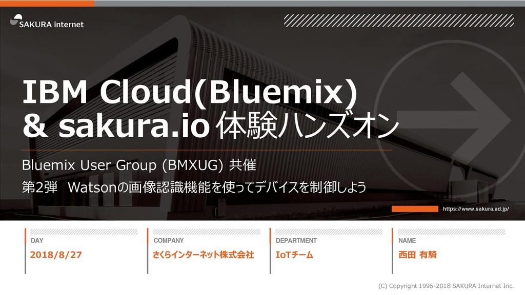 IBM Cloud(Bluemix) & sakura.io体験ハンズオン Bluemix U...