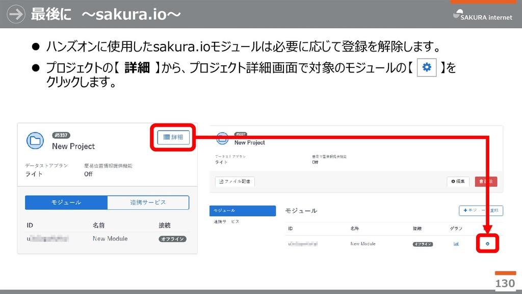 最後に ~sakura.io~  ハンズオンに使用したsakura.ioモジュールは必要に応...