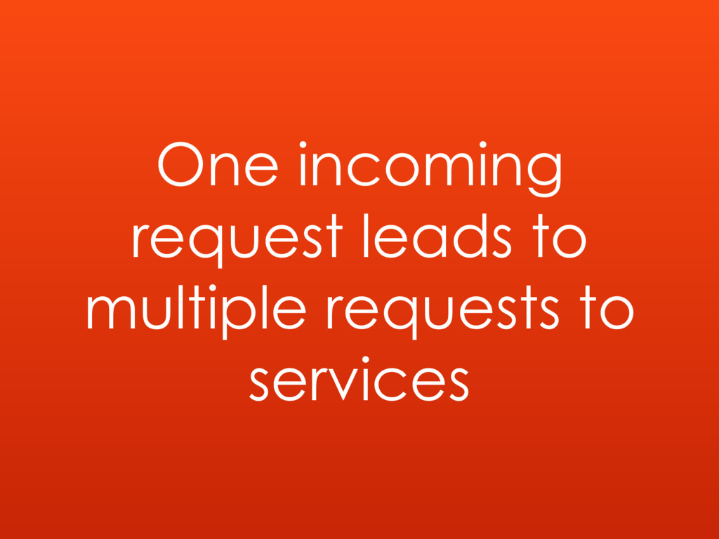One incoming request leads to multiple requests...