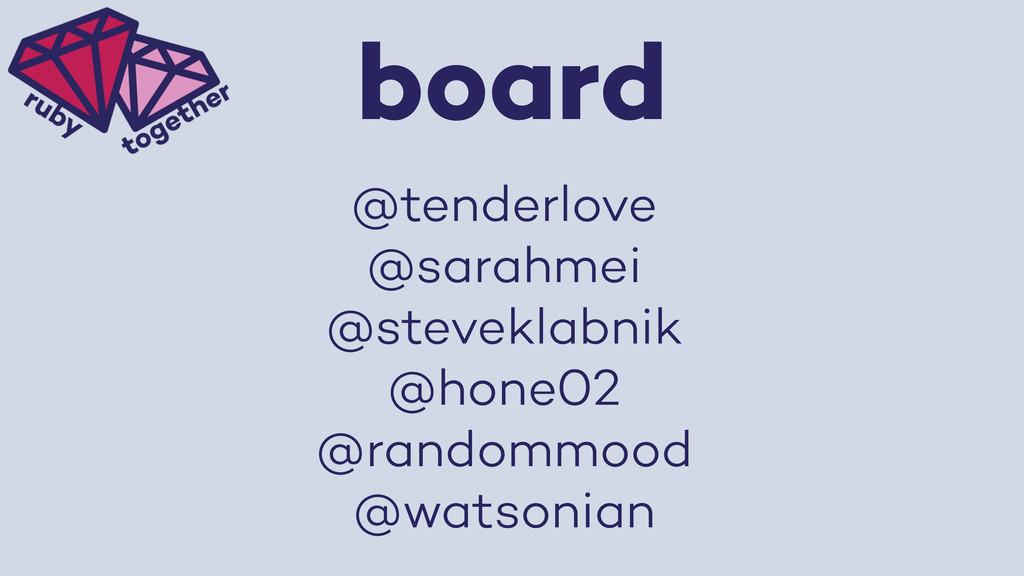 board @tenderlove @sarahmei @steveklabnik @hone...