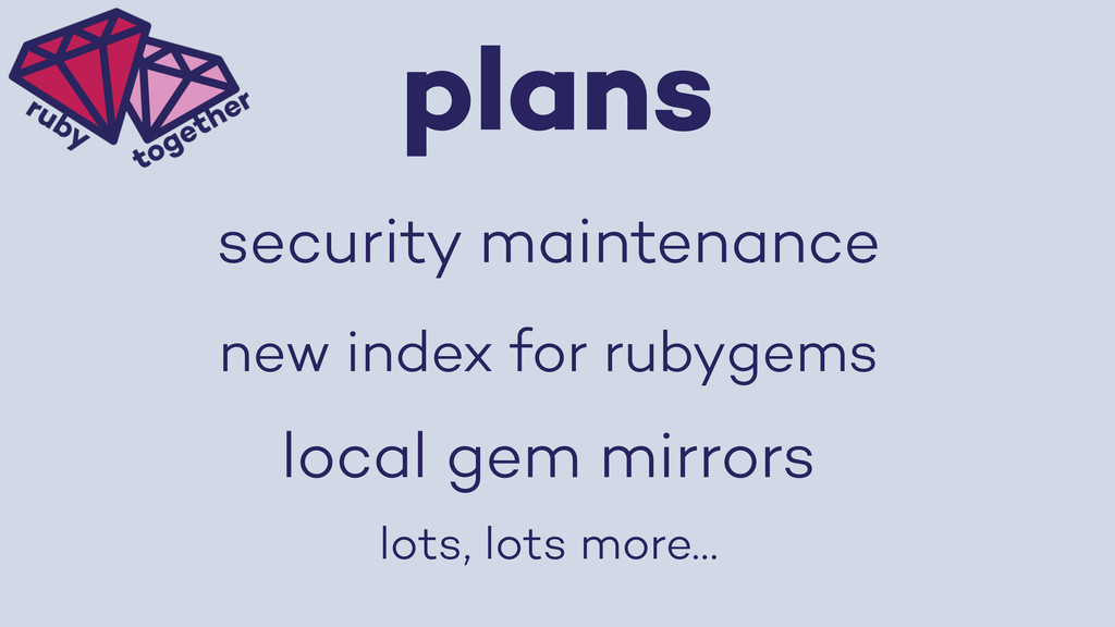 plans new index for rubygems local gem mirrors ...