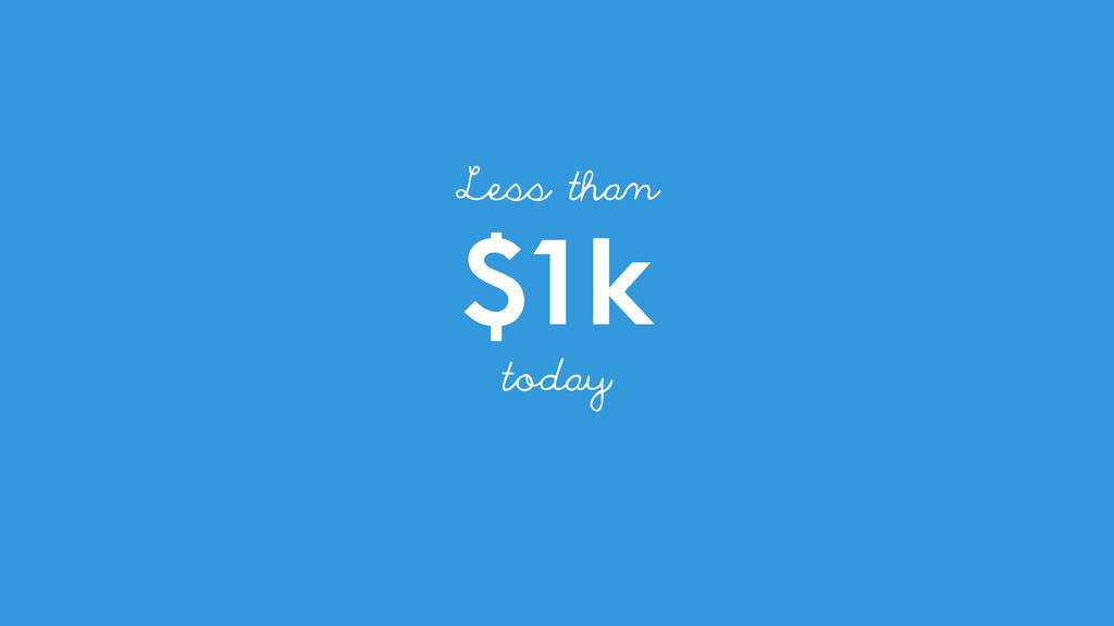 $1k Less than today