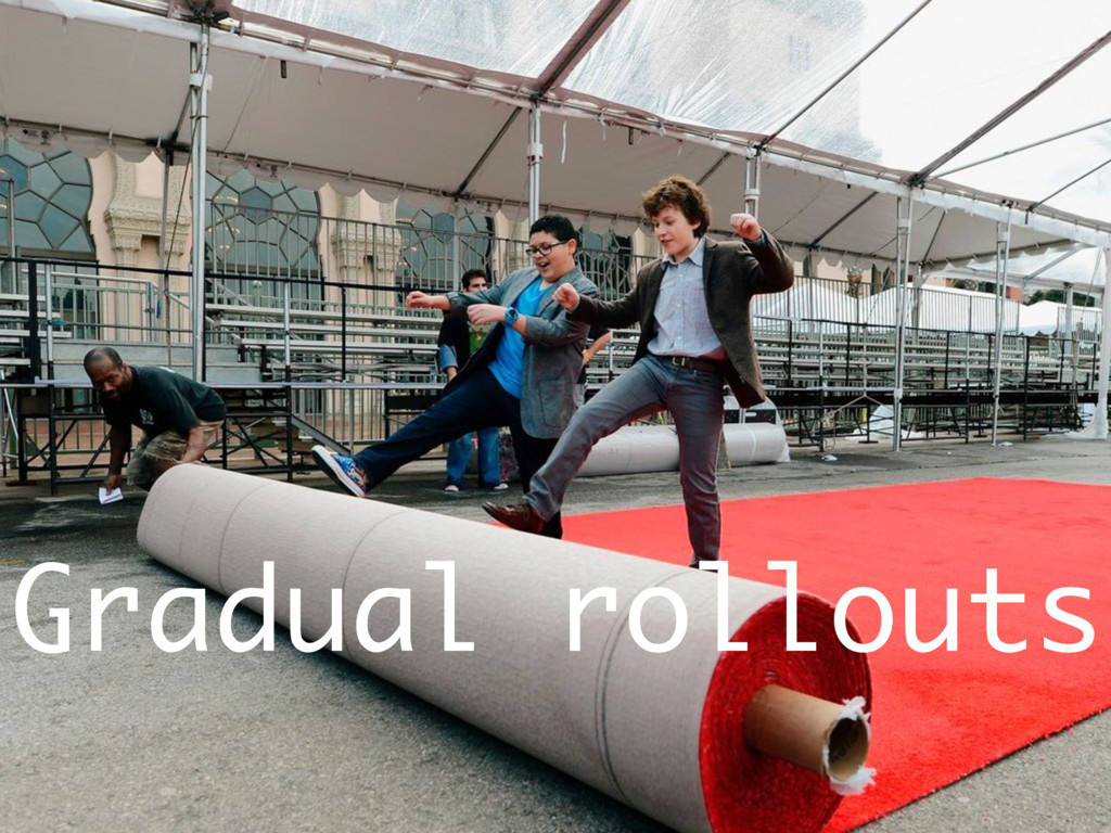 Gradual rollouts