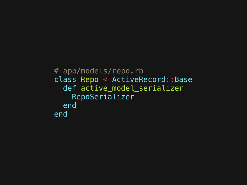 # app/models/repo.rb class Repo < ActiveRecord:...
