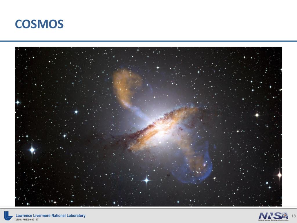 LLNL-PRES-683157 18 COSMOS
