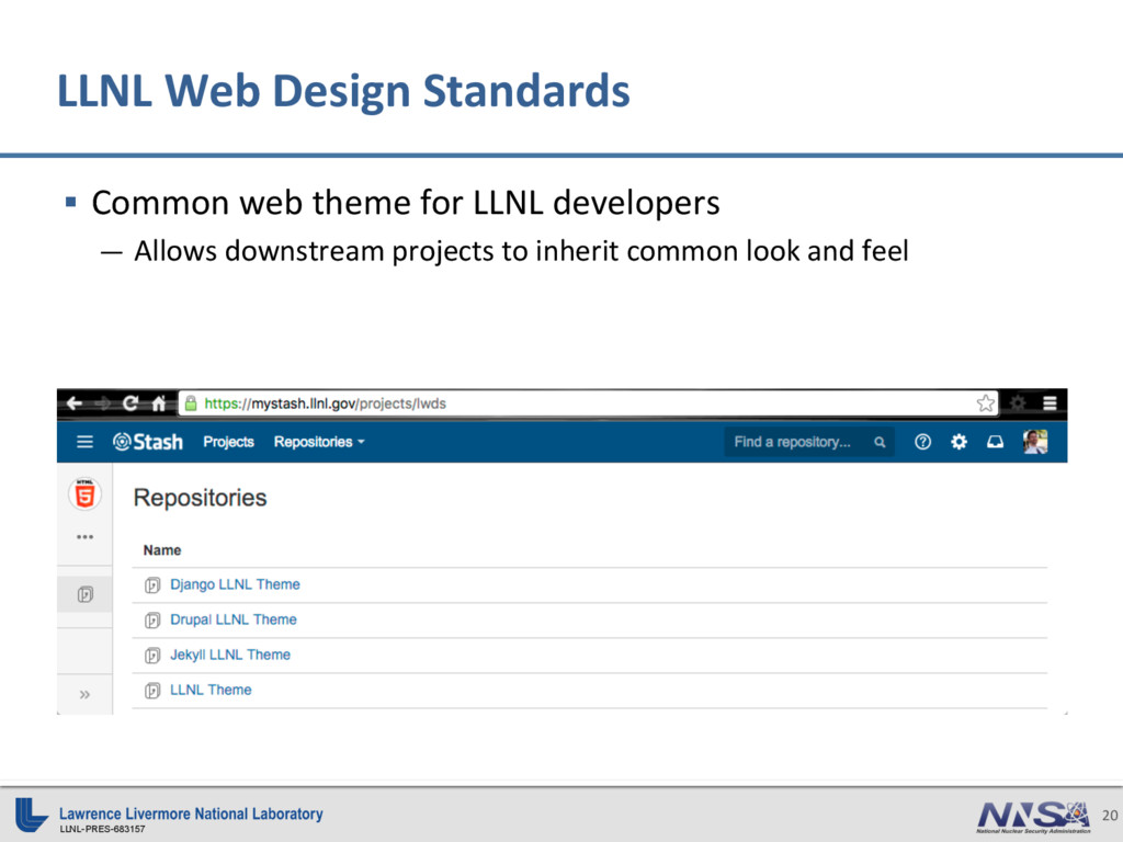 LLNL-PRES-683157 20 LLNL Web Design Standards §...