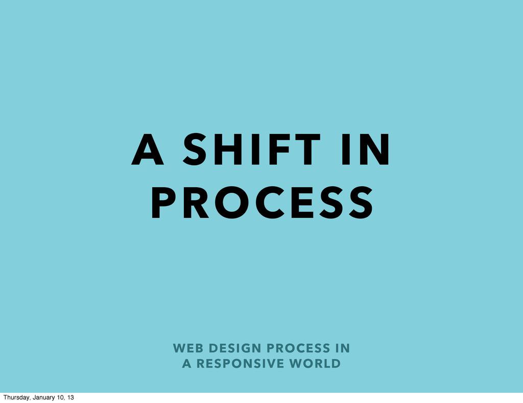 WEB DESIGN PROCESS IN A RESPONSIVE WORLD A SHIF...