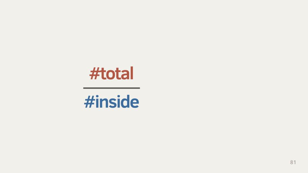 #total (2 × r) 2 #inside π × r 2 81 ≈