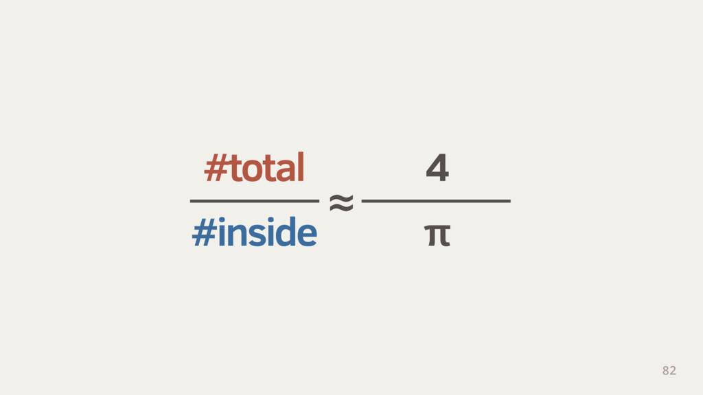 #total 4 #inside π 82 ≈
