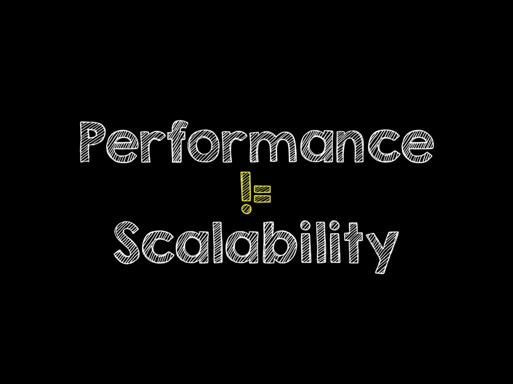 Performance != Scalability
