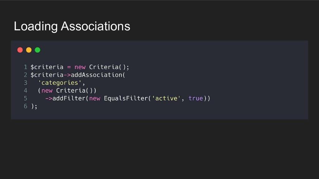 Loading Associations